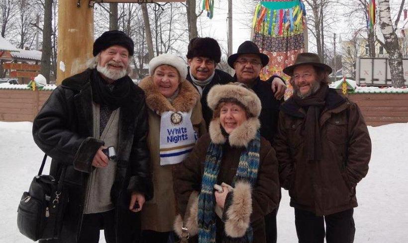 Даже в Русия с ротариански приятели е топло