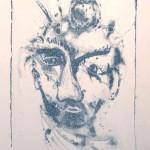 Клоун, картина на Мария Квиклис