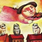 Angel with Cats, картина на Тигран