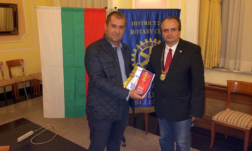 Гешо Гешев е новоприетият член на Ротари клуб Пловдив Пълдин