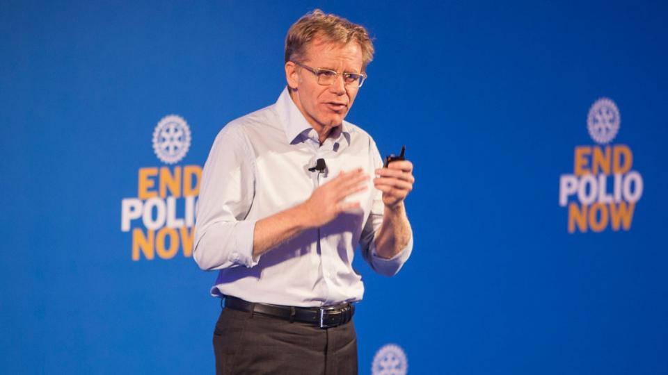 How we shall stop polio forever– a lecture by Bruce Aylward in TED