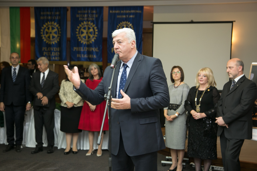 Кмета на Пловдив Здравко Димитров приветства гостите за Народните Будители и Аз