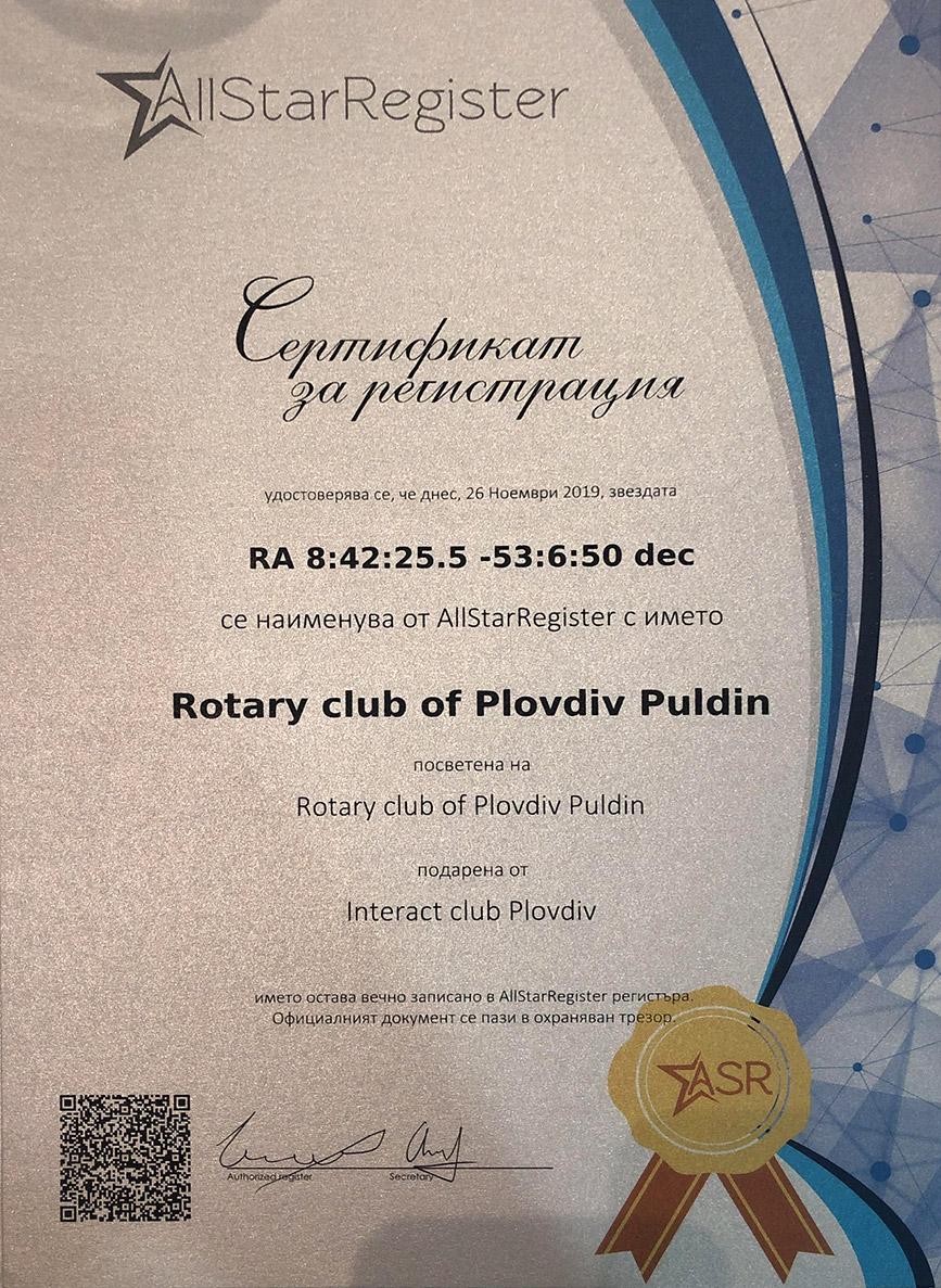 Star-Certificate